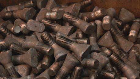Stack of Chute Liner Fasteners