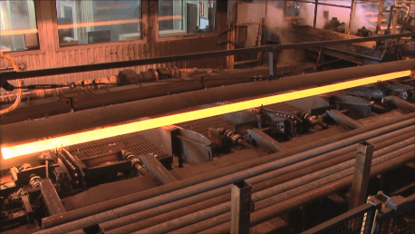 Steel Bar during Induction Heating Process