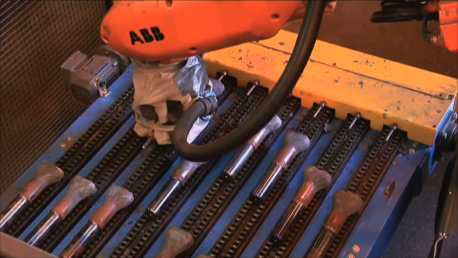 Mill Liner Bolts with Robotic Arm