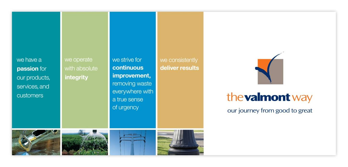 Core Values of the Valmont Way