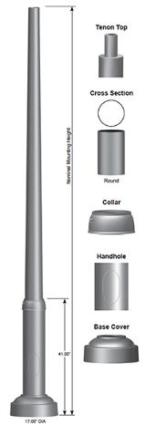 Renaissance RTA Post Pole Image SPC7285
