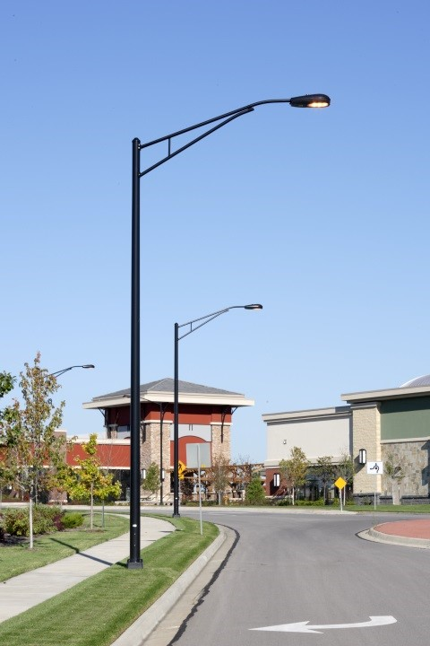 Black Lighting Poles with Truss Arm & Valmont Structures | Street Lighting Photo Gallery azcodes.com