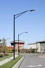 Black Lighting Poles with Truss Arm