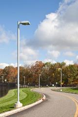 Round Aluminum Street Lighting Poles