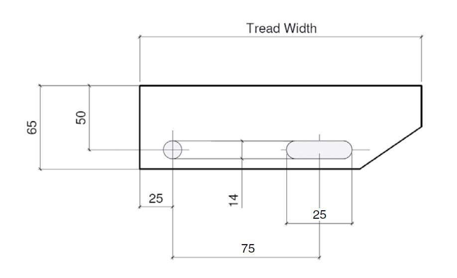 155,165,185mm Treadwidths