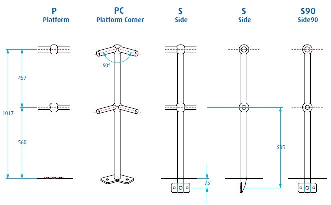Steel Stanchions