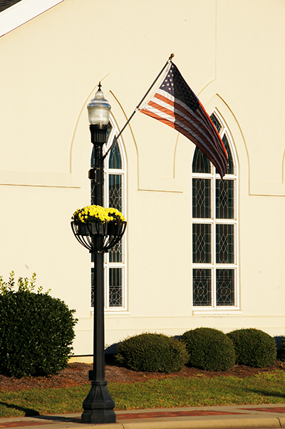 Decorative composite octagonal light pole