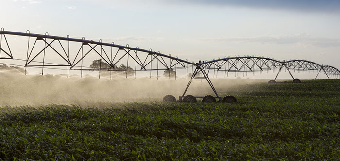 center pivot irrigation machine for agriculture - farming