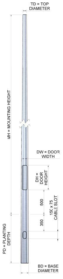 Aluminium-Column-Drawing