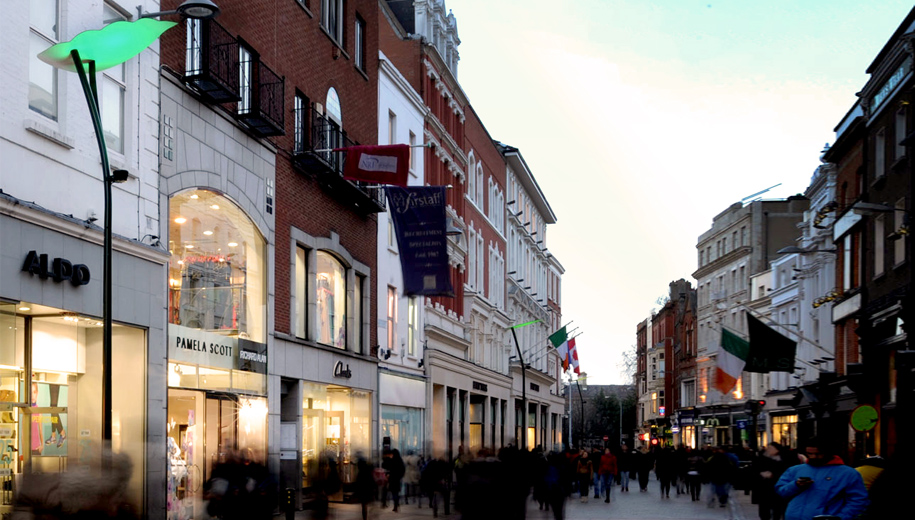 Dublin Grafton Street Bespoke Lighting Column Installation