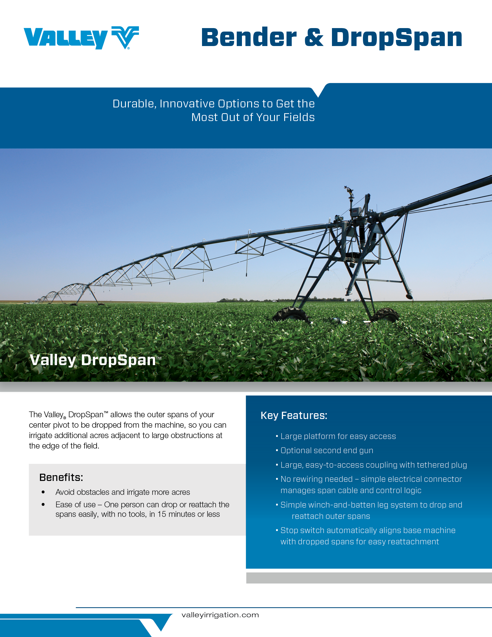 Bender30 And Bender160 Irrigation For Gaining Irrigated Land Valley Center Pivot Wiring Diagrams Product Catalog Cover