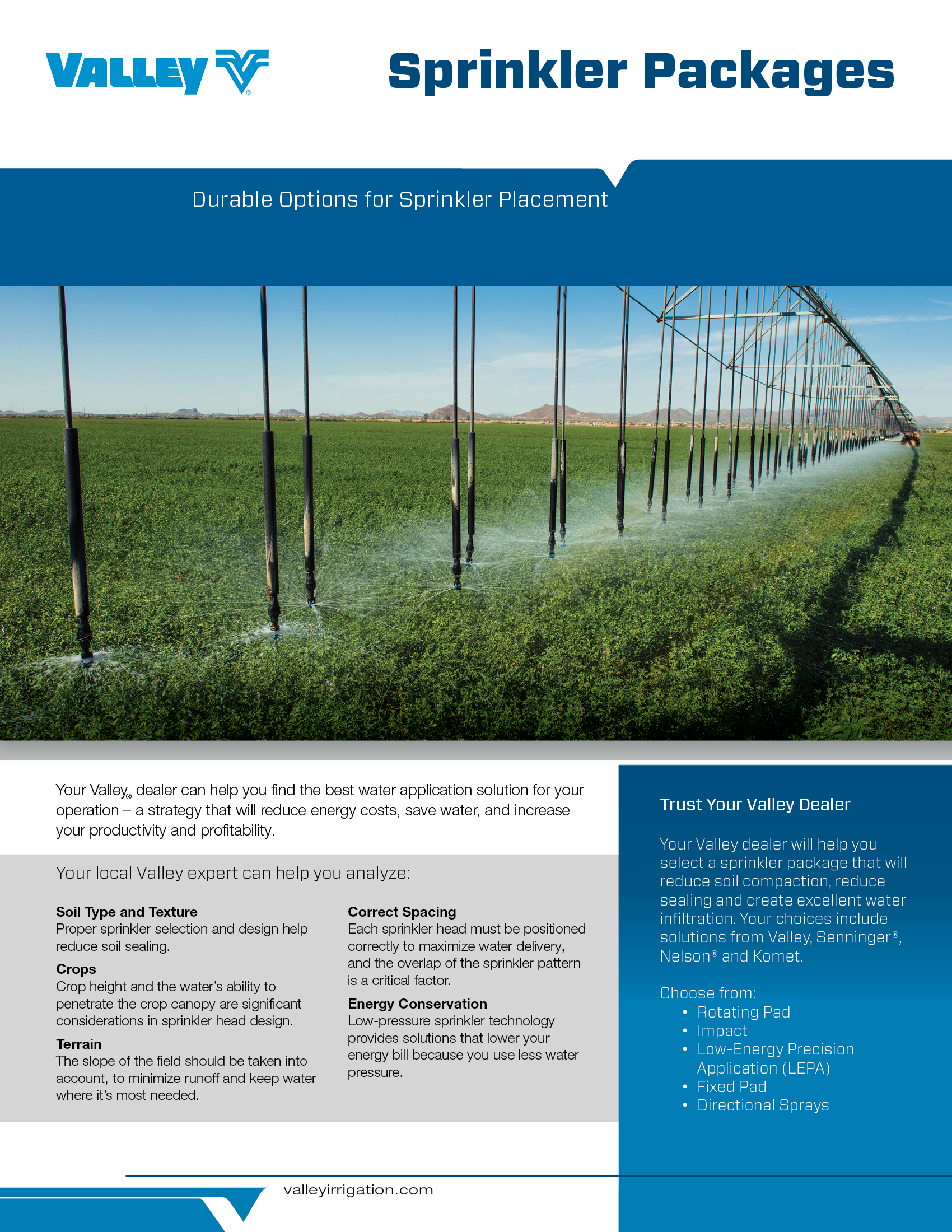 valley water application brochure cover