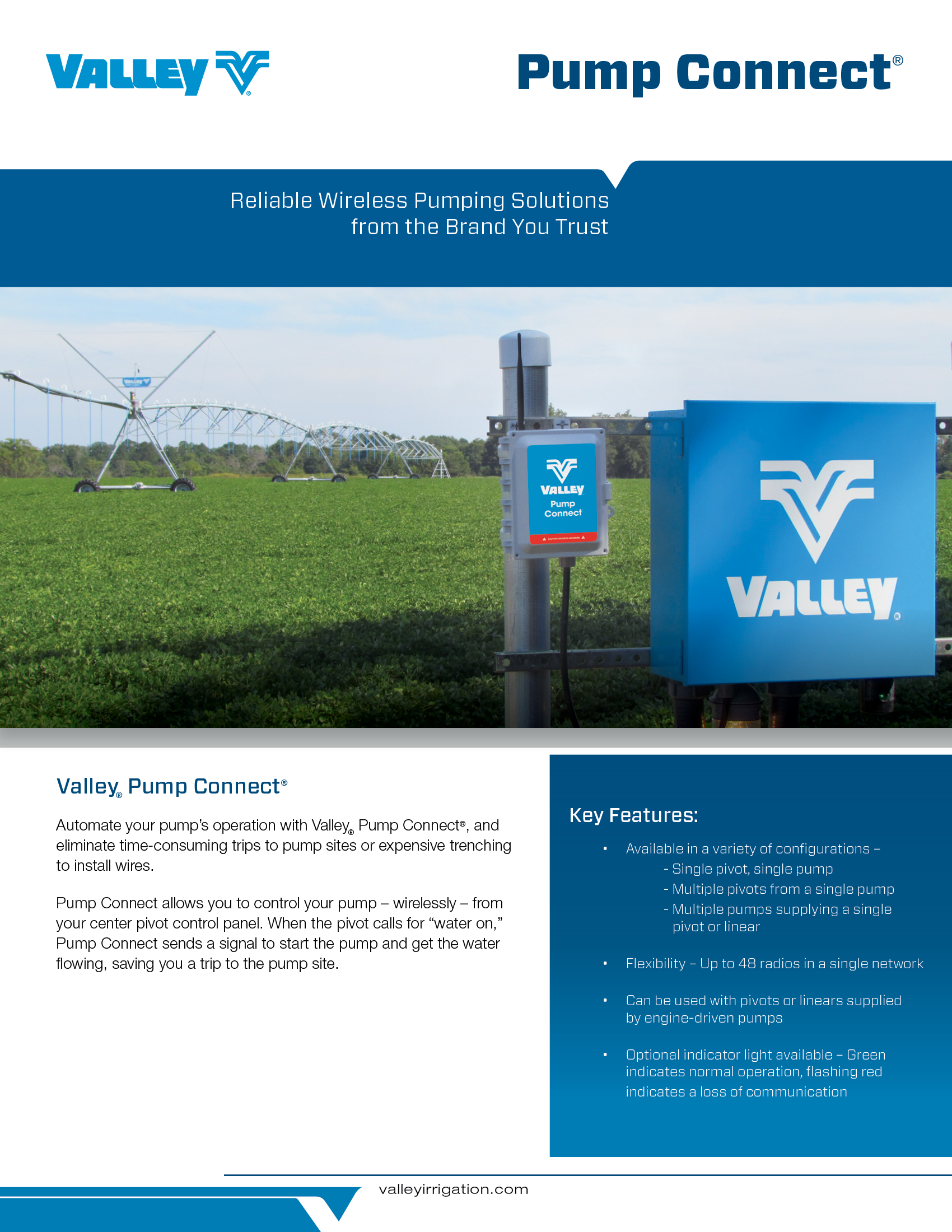 Pump Connect Solution For Precision Irrigation Valley Wiring Relay Brochure Cover