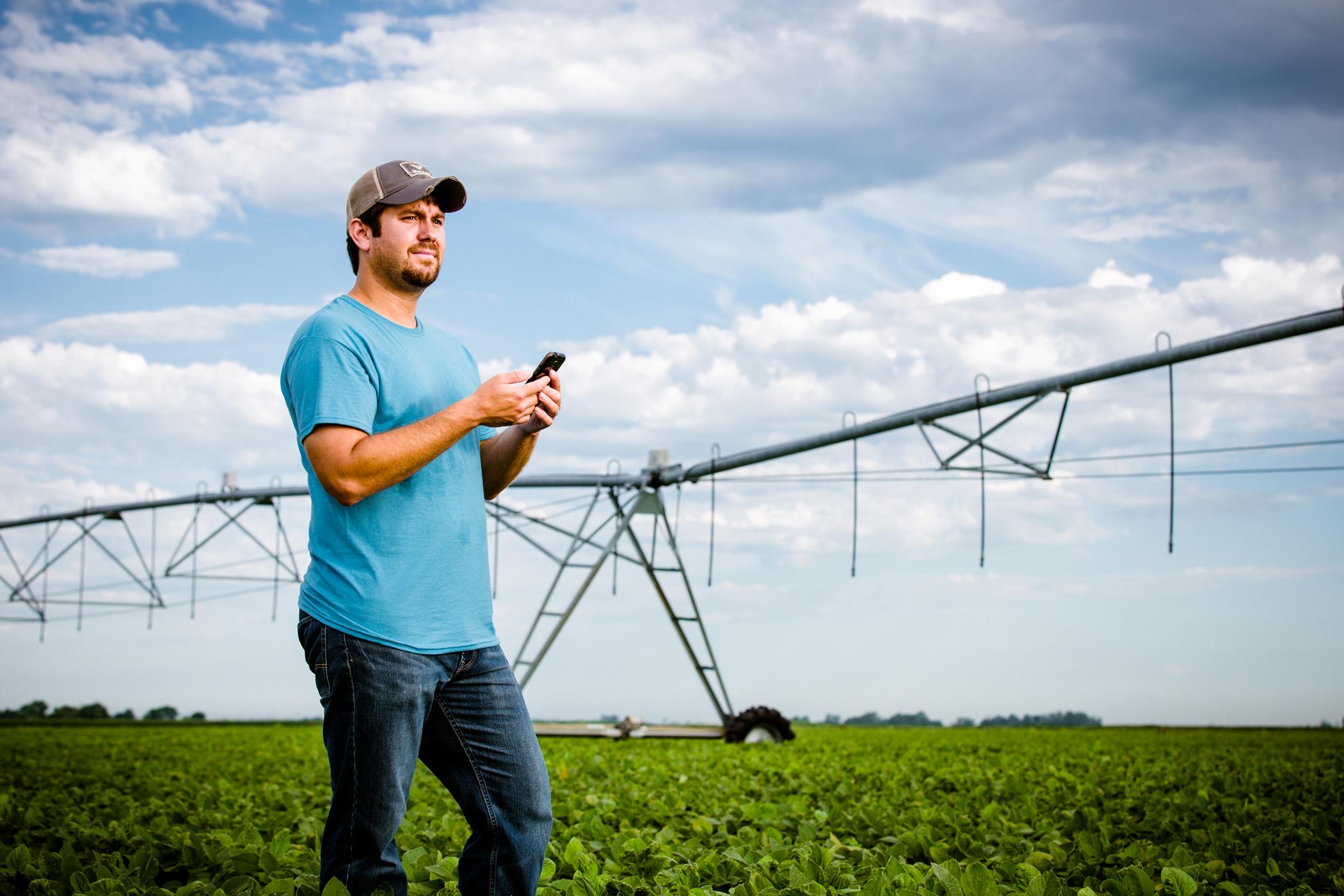 AgSense Farmer in Field