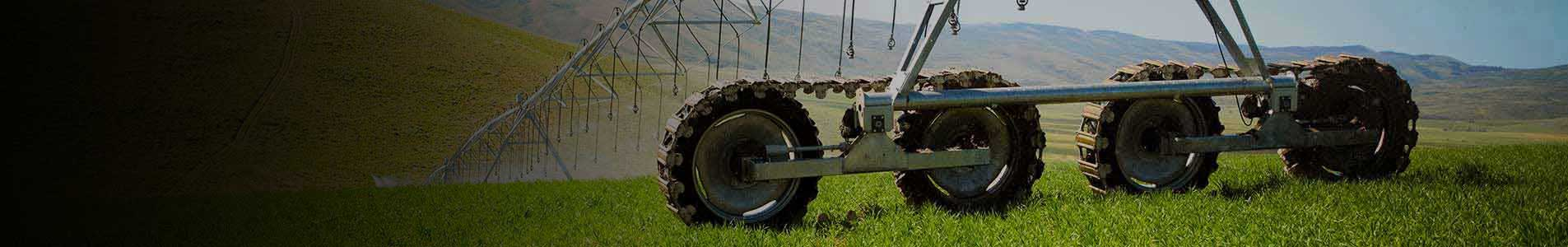 valley articulating track drive - irrigation tires