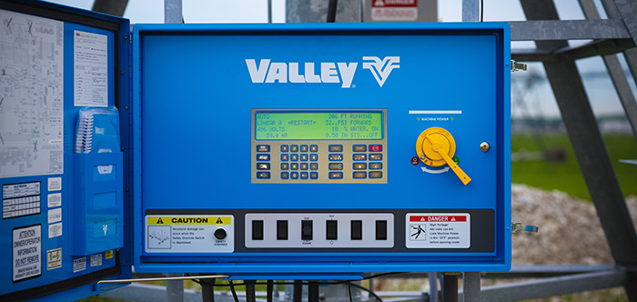 valley autopilot linear control panel for linear irrigation system