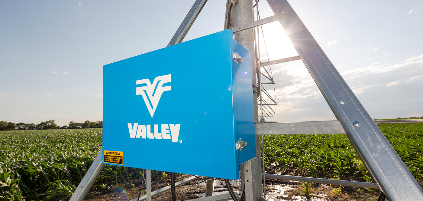 valley control panel for center pivot irrigation system