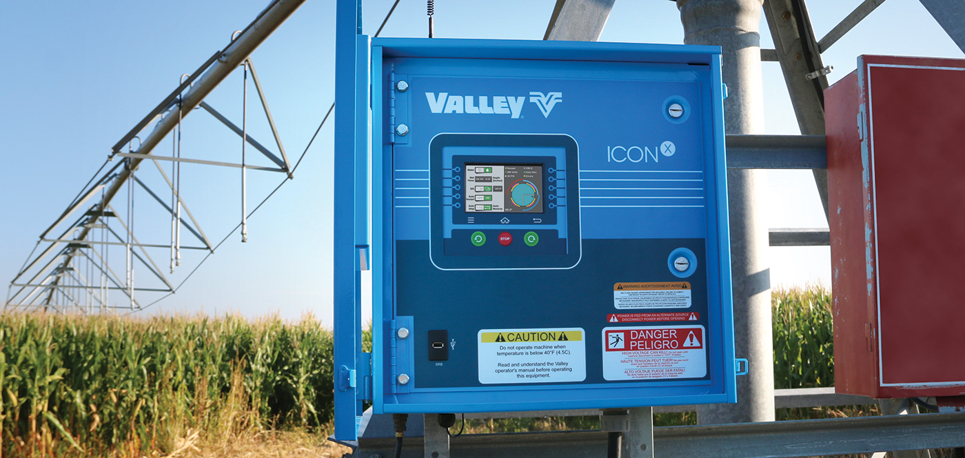 valley iconx smart panel for center pivot irrigation