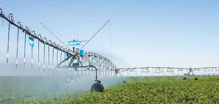trimble irrigate-iq uniform corner variable rate irrigation system