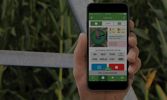 agsense icon link app for center pivot irrigation remote control