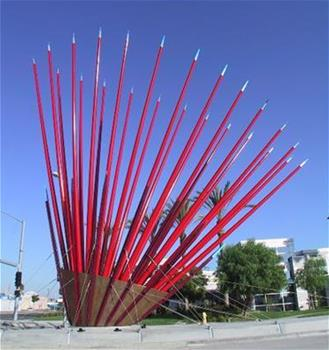 Pacific States Galvanized Springstar Sculpture