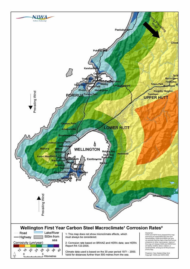 Wellington Corrosion Map