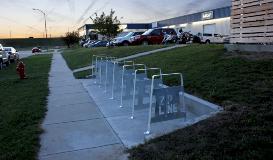 West Point Galvanizing Zipline Brewing Bike Rack