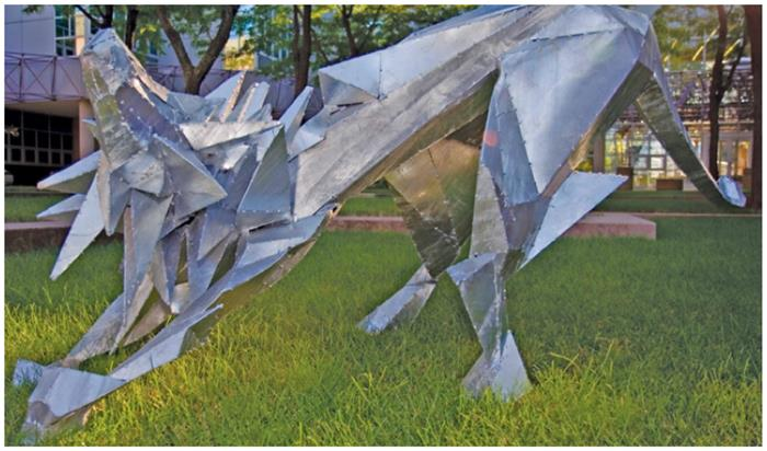 Hot-Dip Galvanized Sculpture Iowa