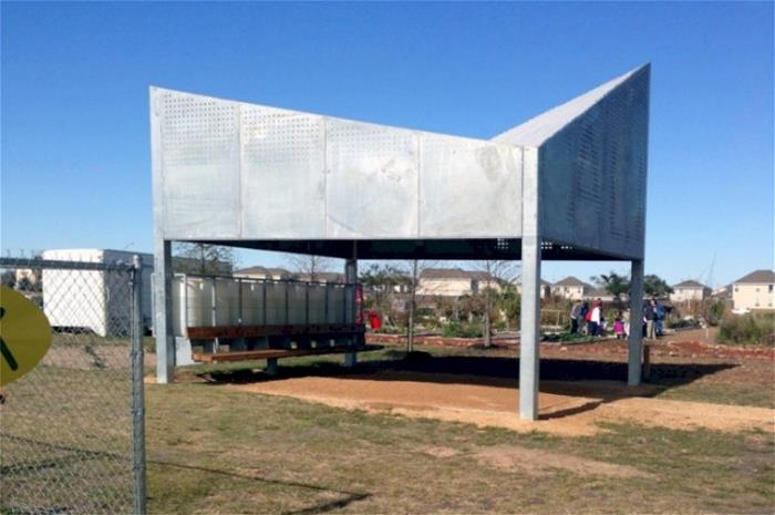 Galvanized Solar Power Classroom Texas