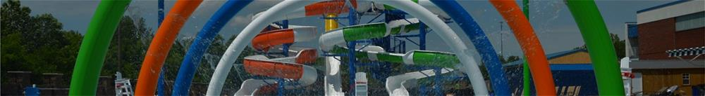 Hot dip galvanized and powder coated waterpark