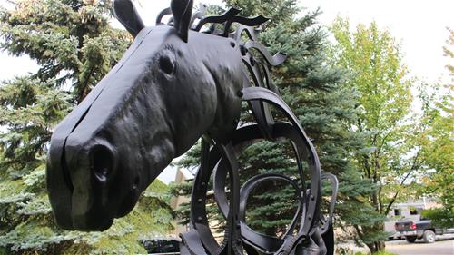 Galvanized & Powder Coated Horse, Brantford Ontario