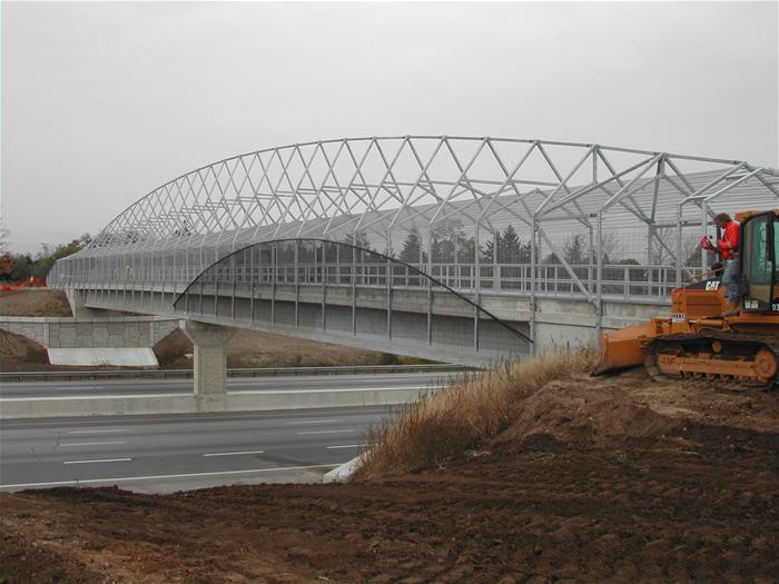 Galvanized Pedestrian Bridge Brantford Canada