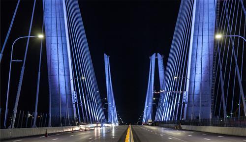 Mario M Cuomo Bridge Night
