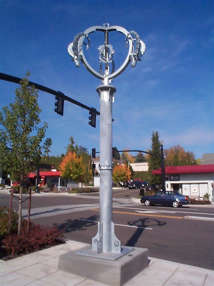 Galvanized Steel Sculpture Oregon