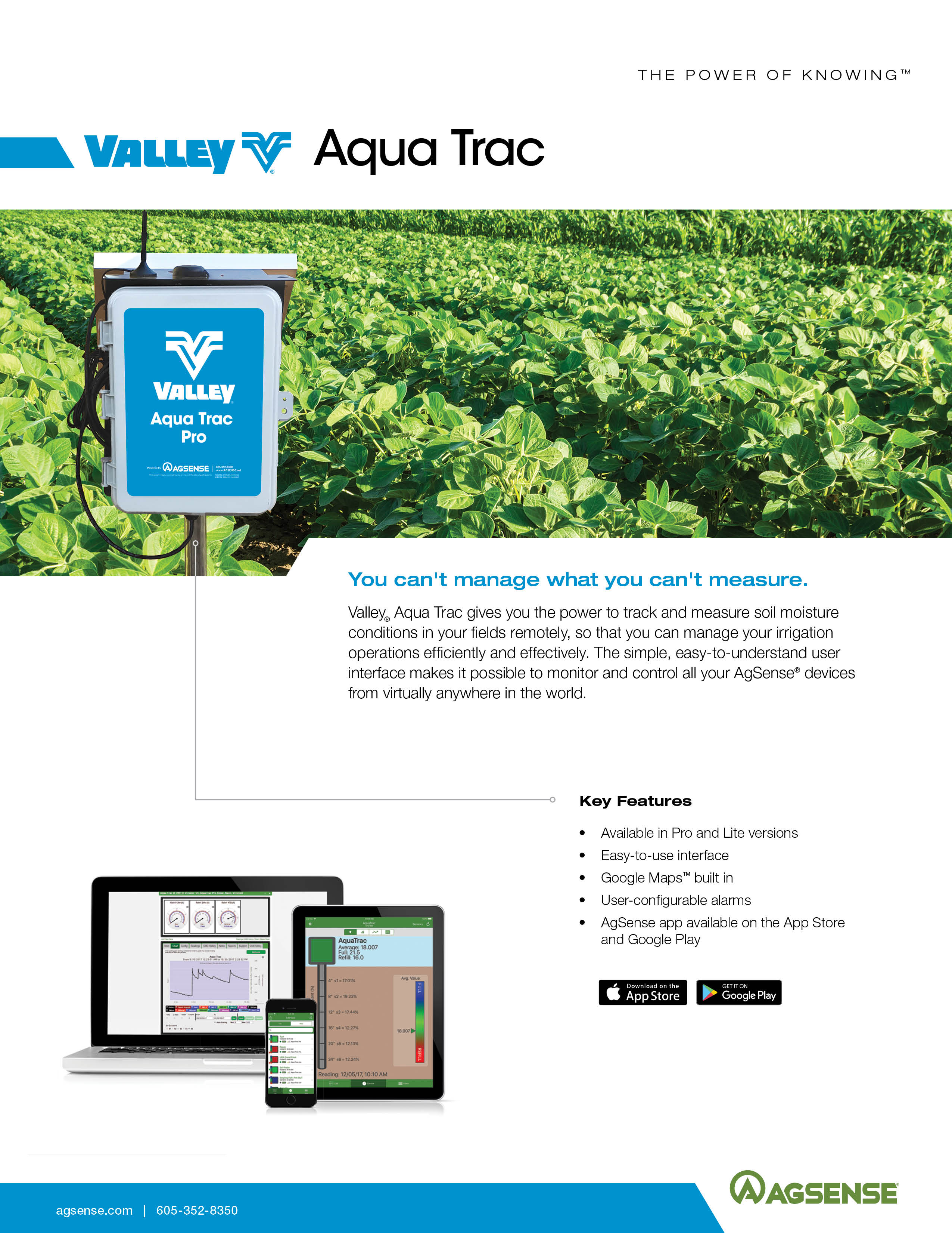 agsense aqua trac brochure