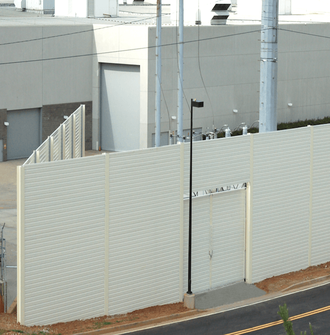 Angled Substation Fencing