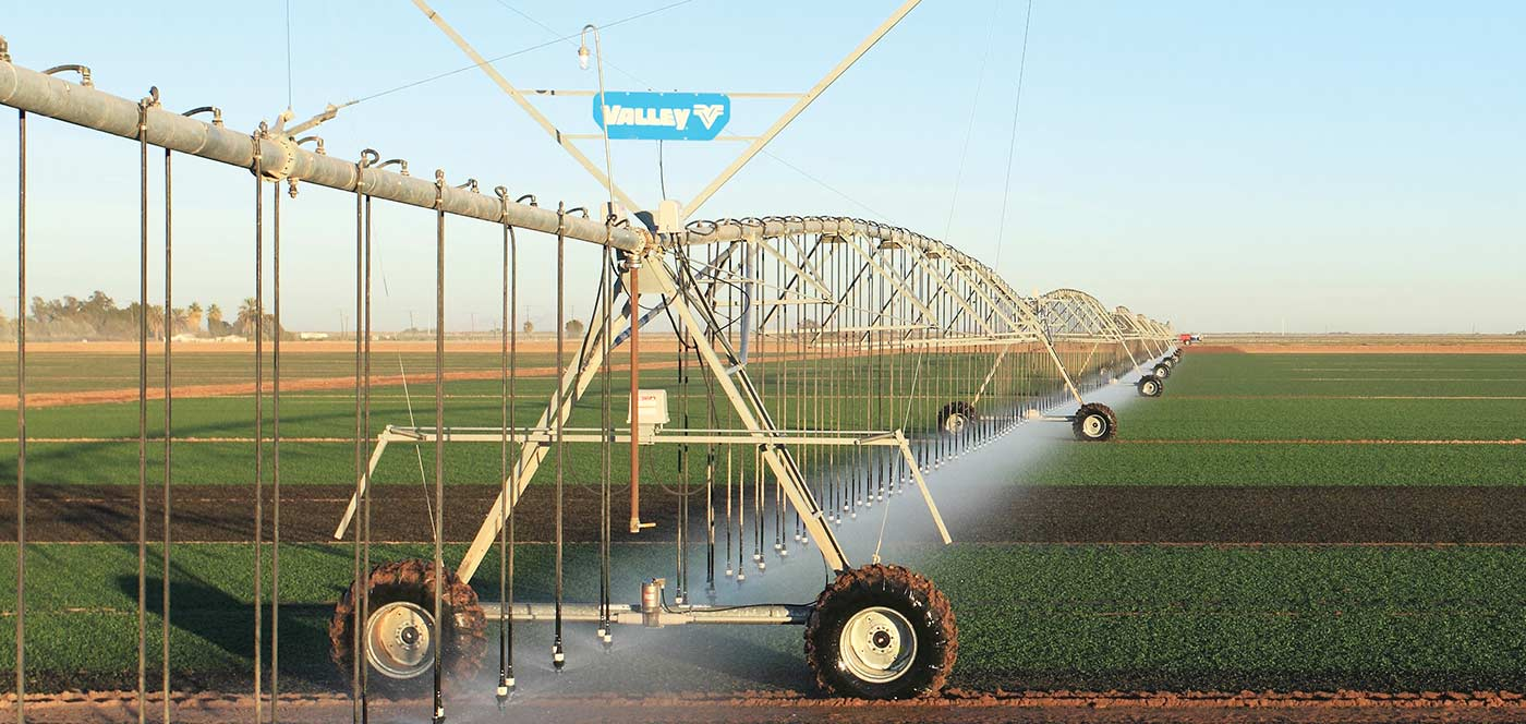 two wheel linear irrigation machine