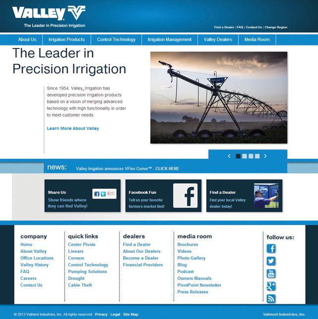 Valley Irrigation Website