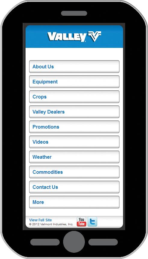 Valley Mobile Website