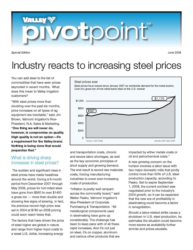 Valley PivotPoint Newsletter Special Edition 2008