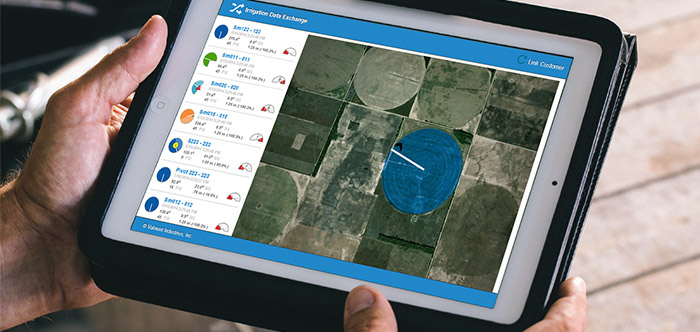 Valley Irrigation Exchange on Tablet