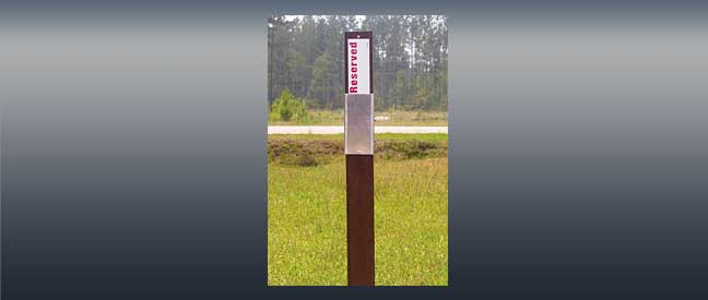 Carsonite model CCSM Campsite Marker