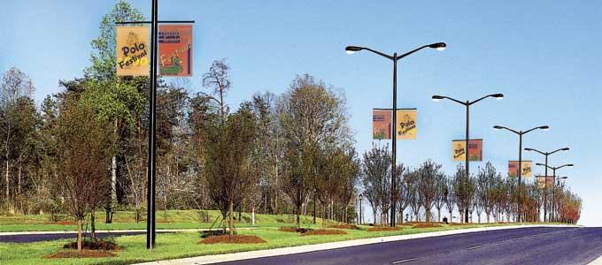 Street Light Poles - Double Arm Bracket Street Light Poles ...