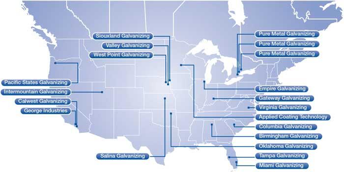 North America Coatings Locations
