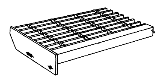 Nosing for grating or treads