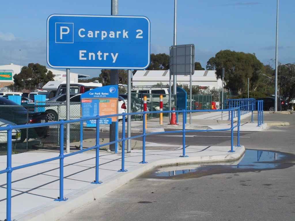 Perth Airport guardrail