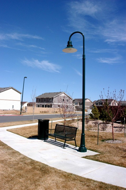 Whatley FR4 composite light pole for park and recreation applications