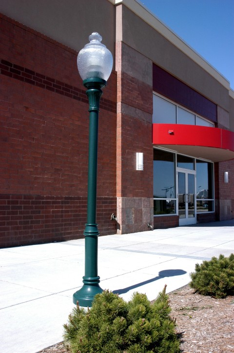 Whatley SR4 model fiberglass composite commercial light pole