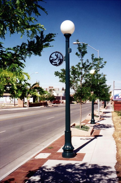 Whatley TS45 composite light poles for street and roadway applications