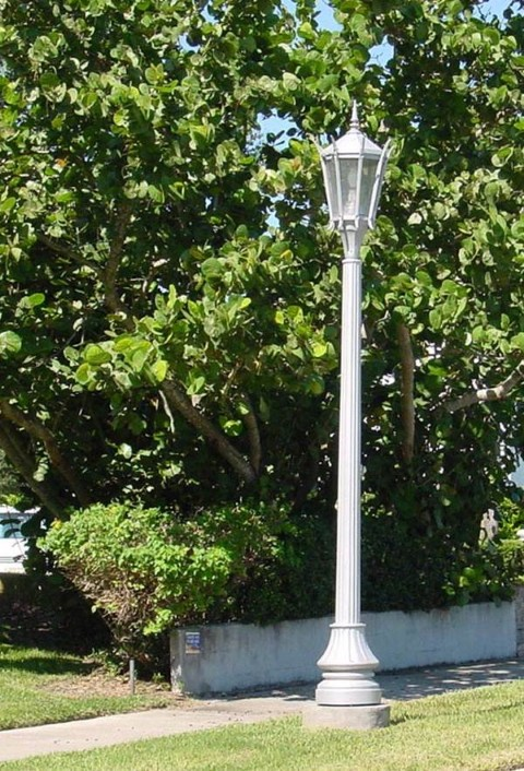 Whatley CF50 composite decorative fluted outdoor light pole